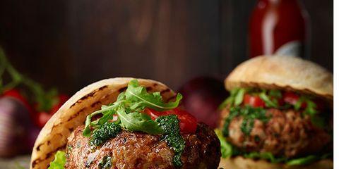 Dish, Food, Cuisine, Hamburger, Patty, Buffalo burger, Ingredient, Veggie burger, Slider, Salmon burger,