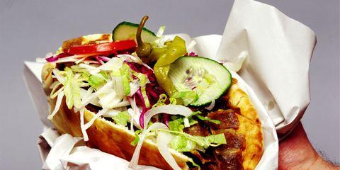 Dish, Food, Cuisine, Ingredient, Junk food, Fast food, Gyro, Produce, Doner kebab, Recipe,