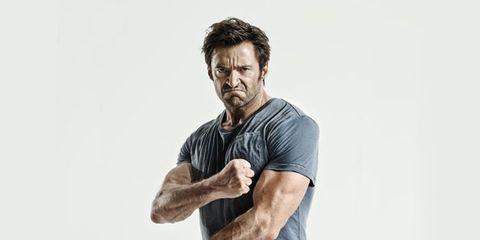 Arm, Shoulder, Standing, Elbow, Joint, Facial hair, T-shirt, Beard, Hand, Neck,