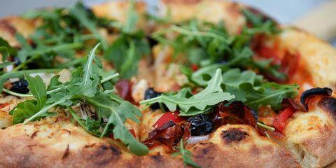 Dish, Food, Cuisine, Pizza, Ingredient, California-style pizza, Flatbread, Italian food, Produce, Recipe,