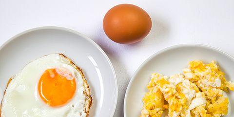 Dish, Food, Egg, Fried egg, Egg yolk, Cuisine, Ingredient, Breakfast, Egg, Meal,