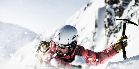 Skier, Snow, Extreme sport, Winter, Recreation, Geological phenomenon, Helmet, Fun, Ski, Sports equipment,