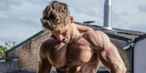 Barechested, Bodybuilder, Muscle, Bodybuilding, Abdomen, Chest, Arm, Physical fitness, Trunk, Human body,