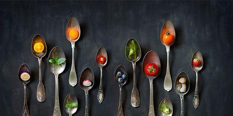Spoon, Cutlery, Still life photography, Fork, Tableware, Plant, Vegetarian food, Vegetable,