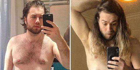 Barechested, Hair, Facial hair, Abdomen, Chest, Beard, Selfie, Muscle, Chest hair, Trunk,