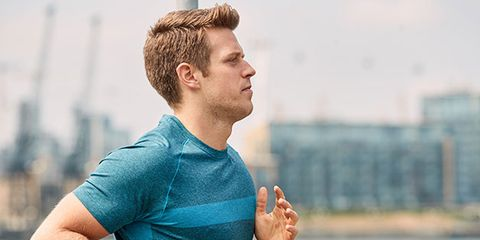 Blue, Arm, Muscle, Neck, Running, Photography, T-shirt, Recreation, Jogging, Sleeve,