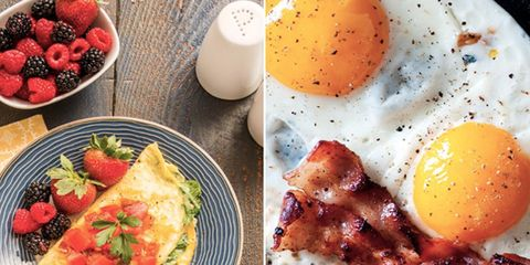 Dish, Food, Cuisine, Meal, Breakfast, Fried egg, Brunch, Full breakfast, Ingredient, Egg,