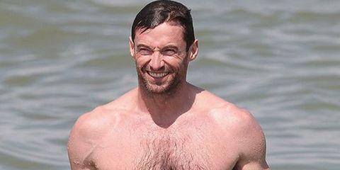 Barechested, Hair, Muscle, Chest, Chest hair, Facial hair, Neck, Arm, Beard, Trunk,