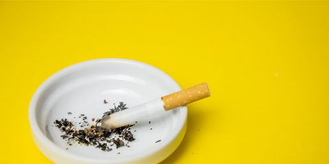 Cigarette, Yellow, Smoking cessation, Ashtray, Mortar and pestle, Tobacco, Smoking accessory, Tobacco products, Membrane-winged insect, Smoking,