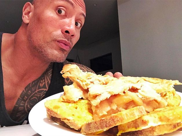 We Calculated The Outrageous Calories In The Rock's Cheat Day