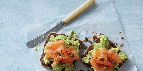 Dish, Cuisine, Food, Ingredient, Produce, Vegetarian food, Fried food, Recipe, Finger food, Smoked salmon,