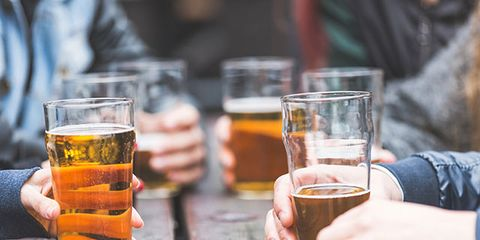 Drink, Alcohol, Alcoholic beverage, Distilled beverage, Liqueur, Beer, Beer glass, Hand, Drinkware, Barware,