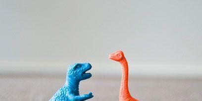 Blue, Toy, Organism, Vertebrate, Dinosaur, Terrestrial animal, Jaw, Adaptation, Teal, Orange,