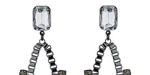 Earrings, Product, Jewellery, Fashion accessory, White, Body jewelry, Fashion, Black, Natural material, Metal,