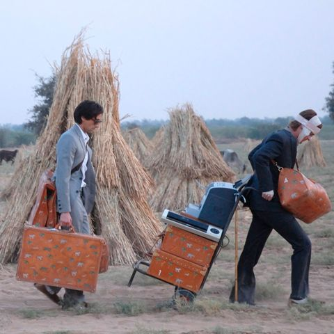 People in nature, Cart, Straw, Hay, Agriculture, Luggage and bags, Sun hat, Wheelbarrow, Village, Hut,