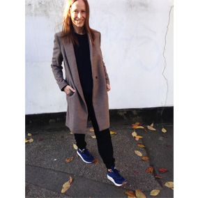 Clothing, Sleeve, Photograph, Standing, Coat, Style, Street fashion, Electric blue, Blazer, Snapshot,