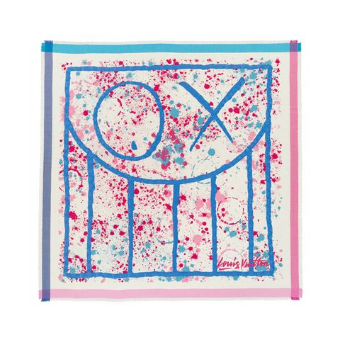 Blue, Pattern, Art, Magenta, Majorelle blue, Visual arts, Rectangle, Creative arts, Circle, Illustration,