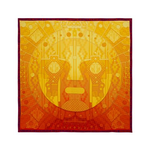 Yellow, Orange, Amber, Pattern, Symbol, Cross, Visual arts, Rectangle, Symmetry, Circle,