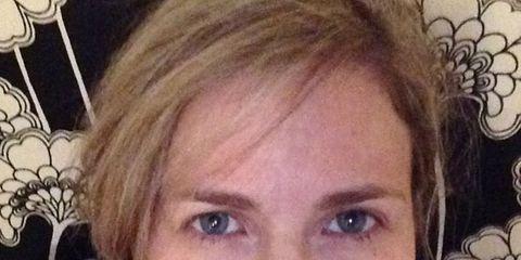 Hair, Face, Nose, Lip, Cheek, Brown, Hairstyle, Skin, Chin, Forehead,