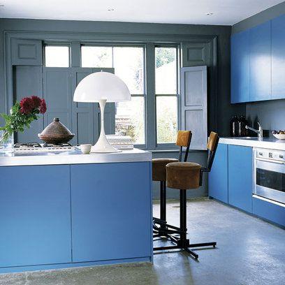 Blue, Room, Floor, Interior design, Flooring, Gas stove, Stove, Kitchen stove, Interior design, Home,