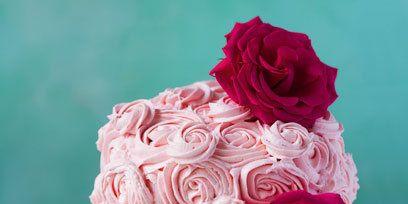 Garden roses, Pink, Rose, Flower, Icing, Buttercream, Red, Rose family, Cake, Cut flowers,