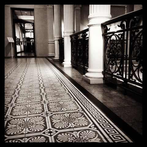 Floor, Architecture, Flooring, Monochrome, Monochrome photography, Black-and-white, Tints and shades, Art, Column, Visual arts,