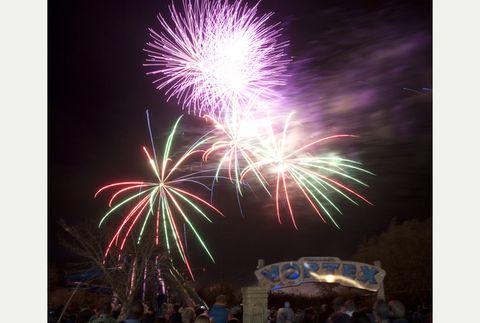 People, Event, Purple, Night, Photograph, Magenta, Violet, Pink, Fireworks, Darkness,