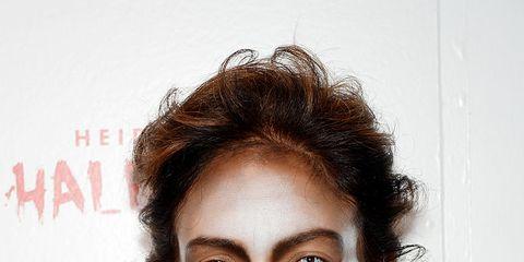 Clothing, Face, Lip, Mouth, Hairstyle, Eye, Eyebrow, Eyelash, Jewellery, Fashion,