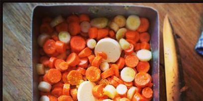 Food, Produce, Dishware, Meal, Root vegetable, Vegetable, Baby carrot, Kitchen utensil, Bowl, Ingredient,