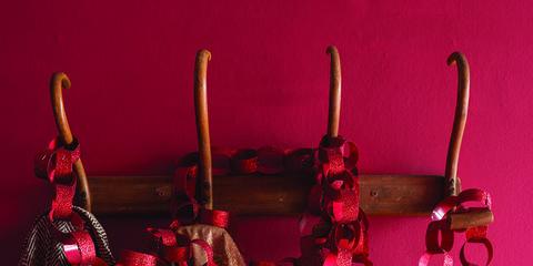 Red, Clothes hanger, Textile, Magenta,