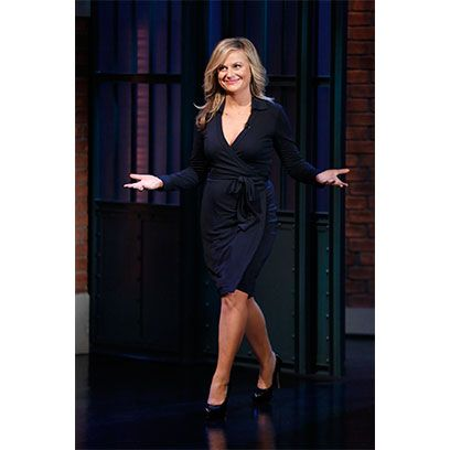Sleeve, Shoulder, Dress, Standing, Formal wear, One-piece garment, Knee, Day dress, Door, Waist,