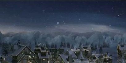 Winter, Atmosphere, Neighbourhood, Roof, Town, Residential area, Facade, Home, Landmark, House,