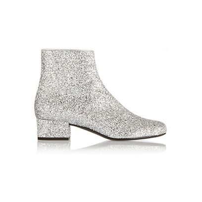 Grey, Boot, Beige, High heels, Silver, Leather, Synthetic rubber,