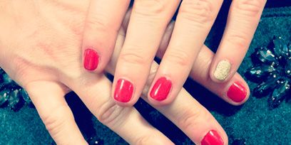 Finger, Nail, Nail care, Nail polish, Manicure, Silver, Cosmetics, Natural material, Flesh,