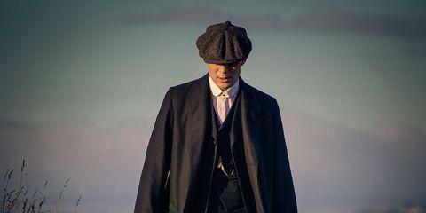 Collar, Hat, Coat, Formal wear, Dress shirt, Blazer, Costume accessory, Overcoat, Jacket, Vintage clothing,