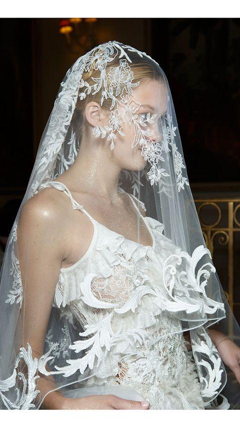 Clothing, Bridal veil, Veil, Bridal clothing, Bridal accessory, Dress, Photograph, Wedding dress, Bride, Tradition,