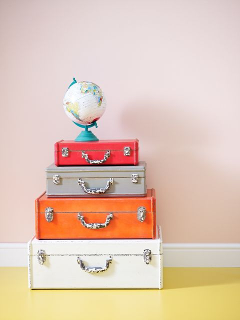 Drawer, Room, Chest of drawers, Orange, Cabinetry, Teal, Grey, Turquoise, Aqua, Paint,