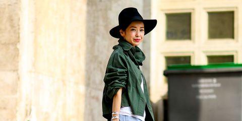 Clothing, Hat, Denim, Shirt, Outerwear, Jeans, Style, Street fashion, T-shirt, Fashion accessory,