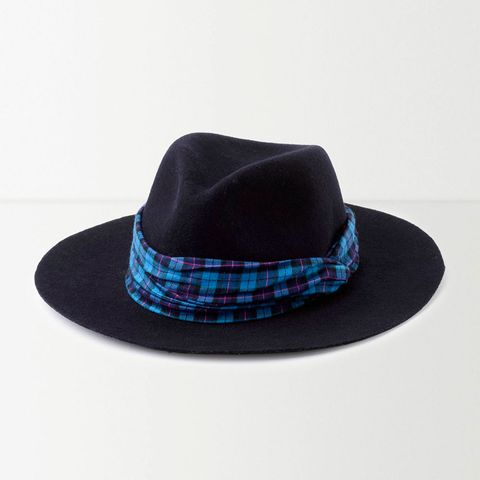 Hat, Fashion accessory, Headgear, Costume accessory, Pattern, Electric blue, Costume hat, Maroon, Fedora, Sun hat,