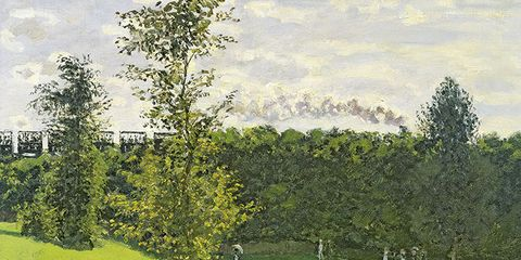 Tree, Pasture, Plain, Woody plant, Grassland, Rural area, Art, Field, Paint, Meadow,