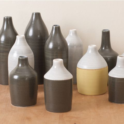 Brown, Bottle, Grey, Beige, Cylinder, Collection, Home accessories,