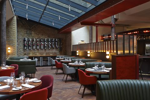 Restaurant, Building, Interior design, Café, Coffeehouse, Room, Cafeteria, Architecture, Diner, Bar,