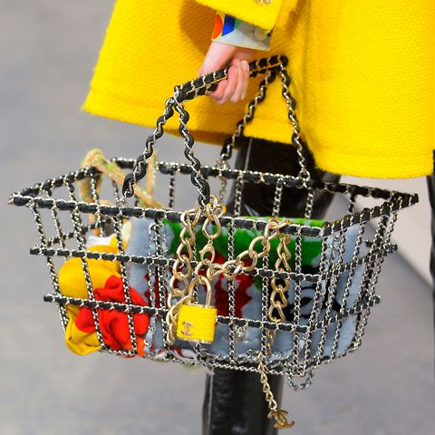 Yellow, Bag, Street fashion, Shoulder bag, Waist, Flag, Bracelet, Chain,
