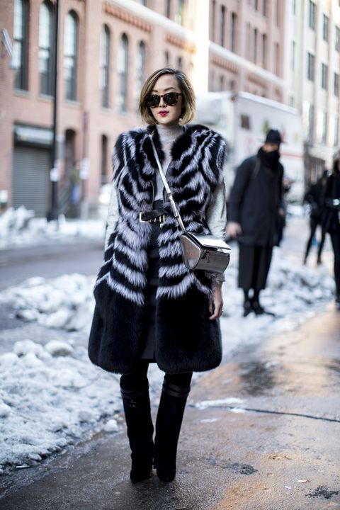 Clothing, Winter, Coat, Textile, Street, Outerwear, Street fashion, Style, Boot, Pattern,