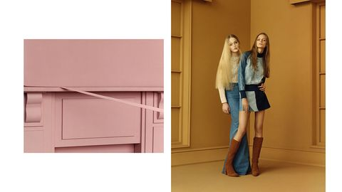 Denim, Knee, Cabinetry, Cupboard, Thigh, Boot, Street fashion, Long hair, Waist, Plywood,