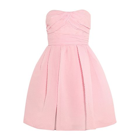 Product, Sleeve, Dress, Textile, Magenta, Collar, Pink, One-piece garment, Pattern, Peach,
