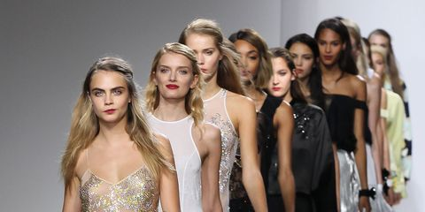 Clothing, Leg, Shoulder, Dress, Fashion show, Style, Waist, Fashion model, Beauty, One-piece garment,