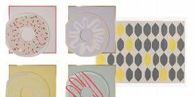 Pink, Pattern, Peach, Circle, Paper, Creative arts, Paper product, Craft, Polka dot, Natural material,