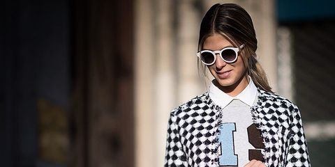 Eyewear, Glasses, Vision care, Sunglasses, Sleeve, Outerwear, Style, Pattern, Street fashion, Collar,