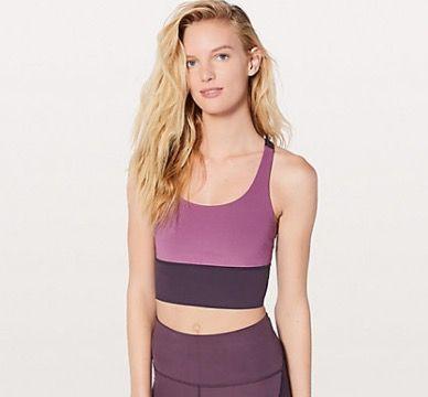 Clothing, Crop top, Shoulder, Neck, Undergarment, Purple, Waist, Sports bra, Undergarment, Top,